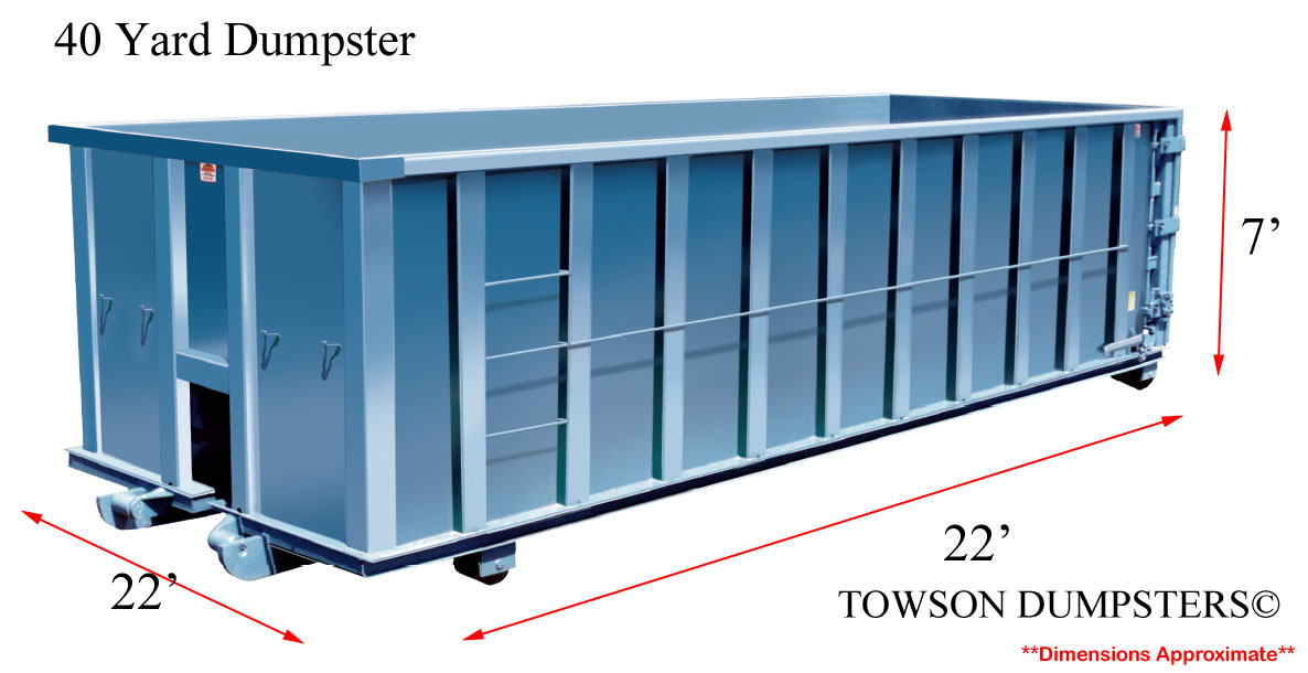 Get Access To Varied Dumpster Sizes In Towson Md Towson